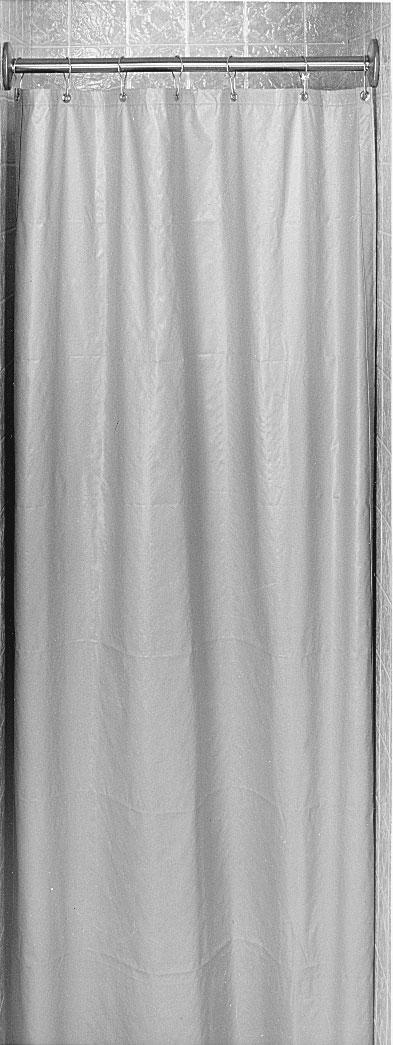 "Bradley 9534-4272 White Cotton Duck Material Shower Curtain 42"" x 72"""