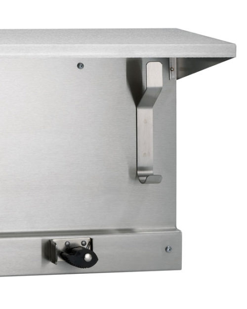 "Bradley 9986 48"" Utility Shelf (5 Hooks / 6 Holders)"