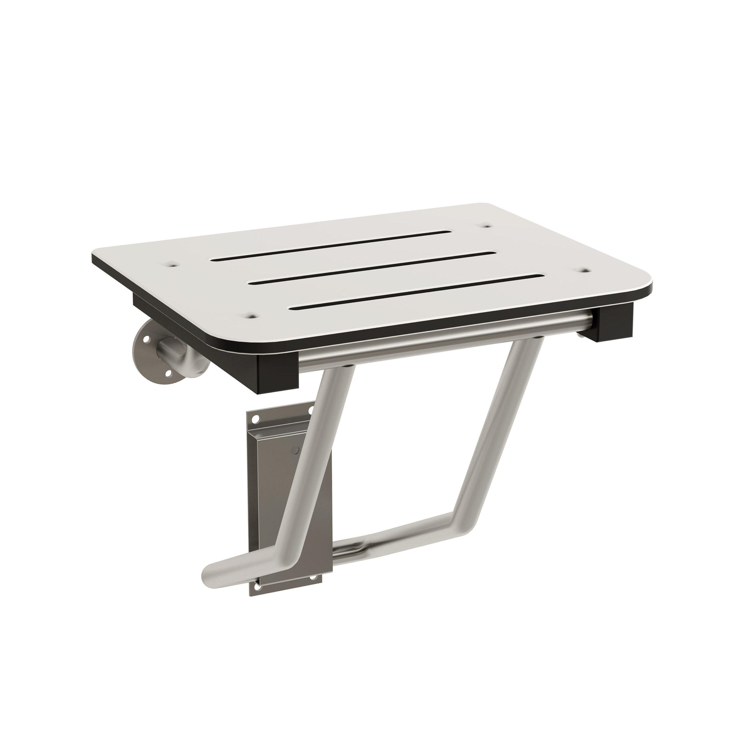 Bradley 9591 Folding Square Phenolic Shower Seat