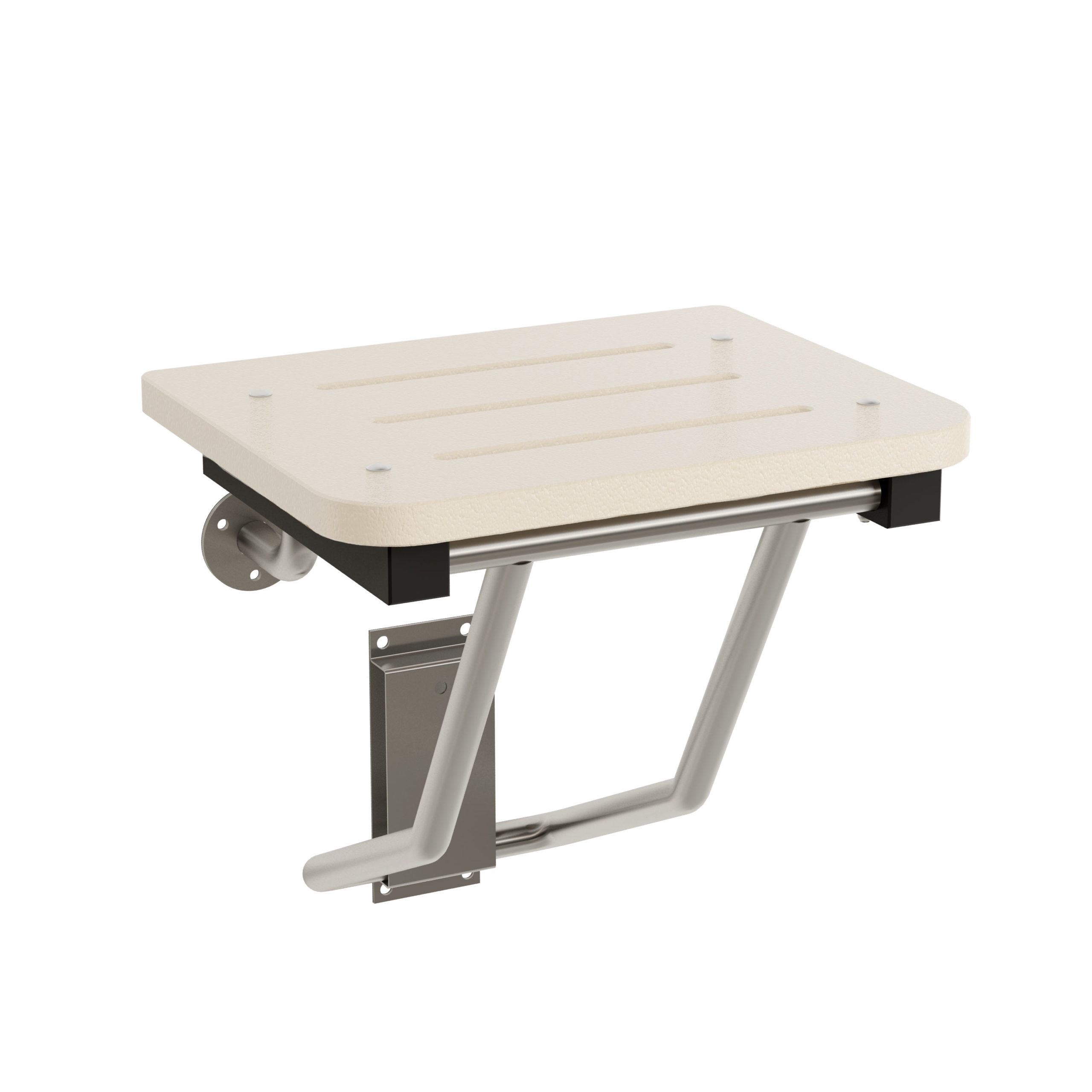 Bradley 9592 Folding Square Shower Seat - White, Bradmar