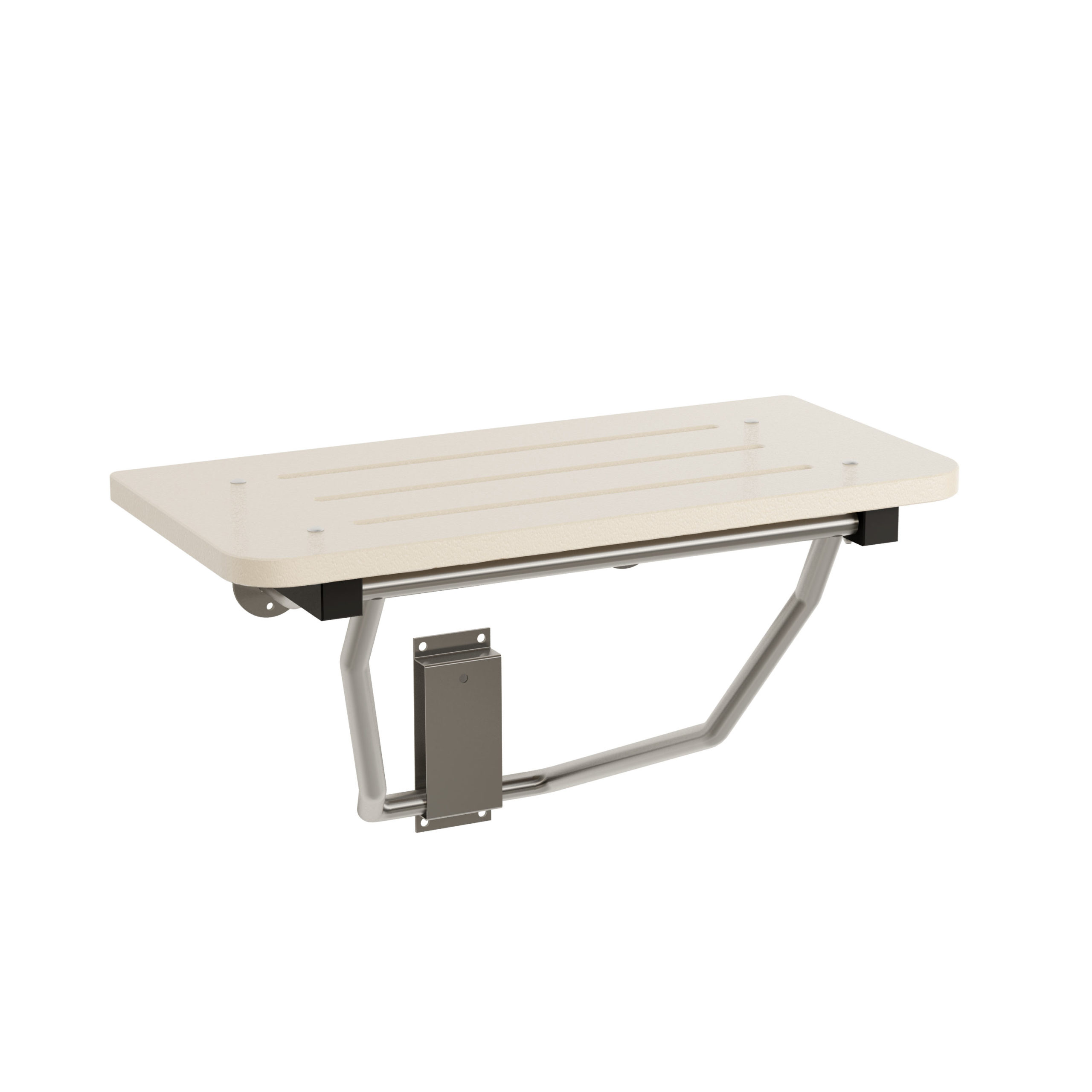 Bradley 9593 Folding Shower Seat - White, Bradmar, Barrier Free