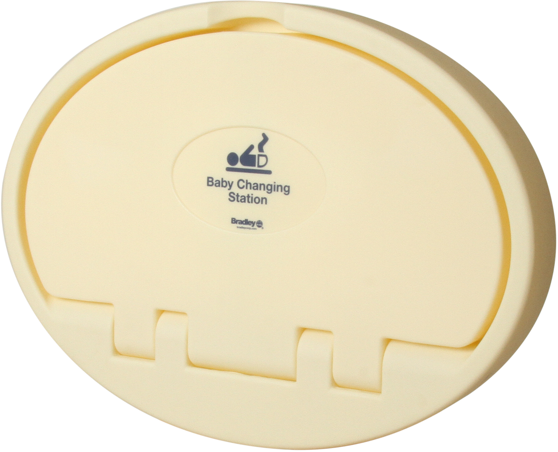 Bradley 9612 Baby Changing Station - Ivory