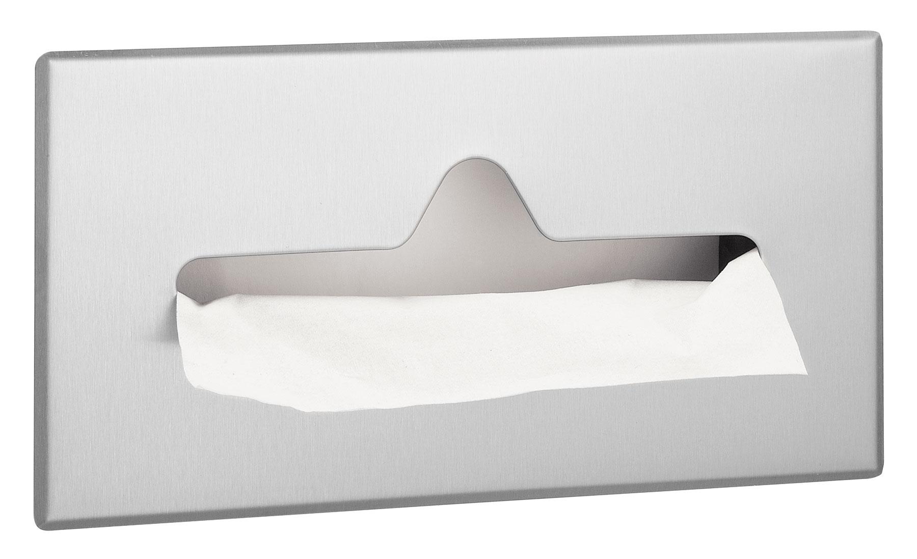 Bradley 987 Recessed Facial Tissue Dispenser - Satin Finish