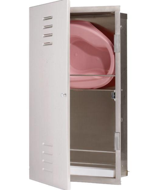 Bradley 990 Bed Pan Storage Cabinet - Recessed