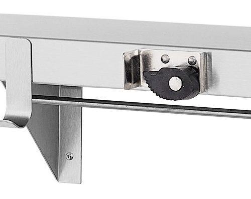 "Bradley 9986 48"" Utility Shelf (5 Hooks / 6 Holders)"
