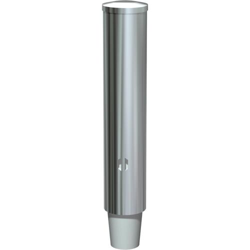 American Specialties 0002-SM Stainless Steel Surface Mounted Paper Cup Dispenser - Round