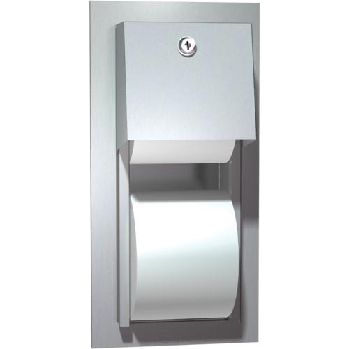American Specialties 0031 Recessed Dual Roll Toilet Paper Dispenser