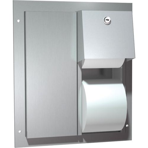 American Specialties 0032 Dual Access Partition Mounted Dual Roll Toilet Paper Dispenser