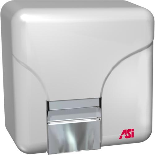 "American Specialties 0141 Porcelain ""No Touch"" 110-120V Surface Mounted Hand Dryer"