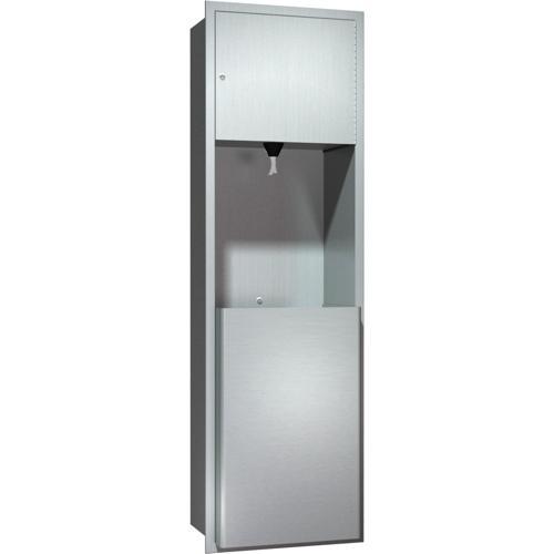 American Specialties 04693 Recessed Pull Core Paper Towel Dispenser & Waste Receptacle