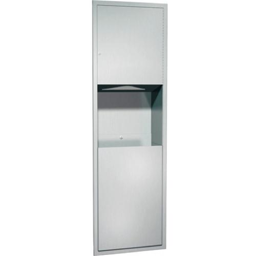 American Specialties 04697 Recessed Paper Towel Dispenser & Waste Receptacle