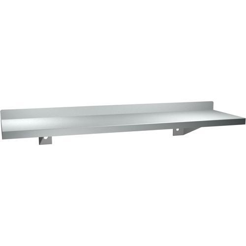"""American Specialties 0694-16  5"""" x 16""""  Shelf With Backsplash"""