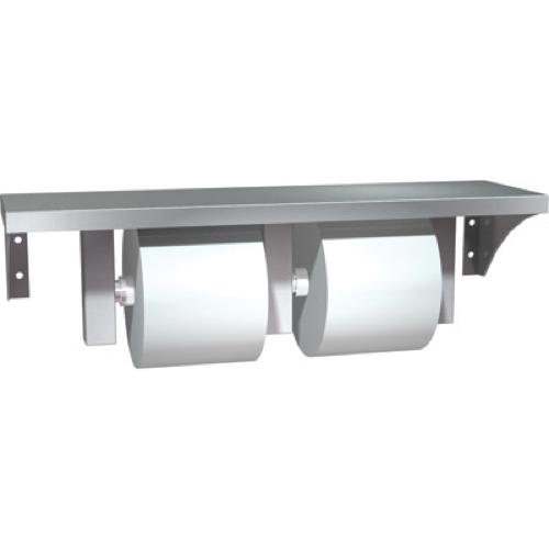 American Specialties 0697-GAL Shelf and Double Toilet Paper Dispenser