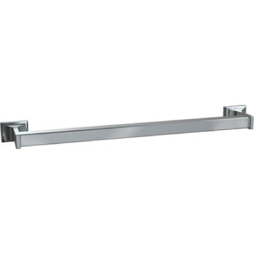 "American Specialties 0760-Z24  24"" Chrome Plated Square Towel Bar"