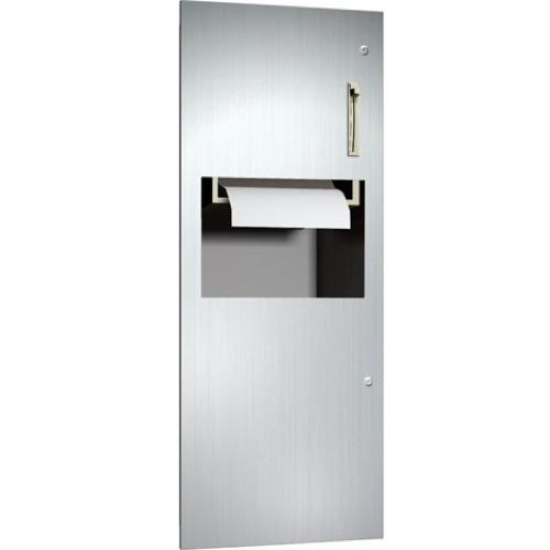 American Specialties 64696 Recessed Roll Paper Towel Dispenser & Waste Receptacle