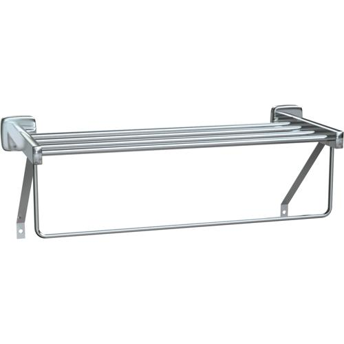 "American Specialties 7310-18B  18"" Towel Shelf With Drying Rod"