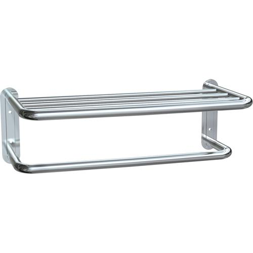 American Specialties 7311-20B Towel Shelf With Towel Bar
