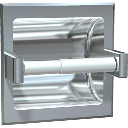 American Specialties 7402-BD Bright Finish Recessed Toilet Paper Holder