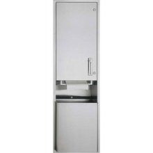 American Specialties 046921-6 Semi-Recessed Roll Paper Towel Dispenser & Waste Receptacle