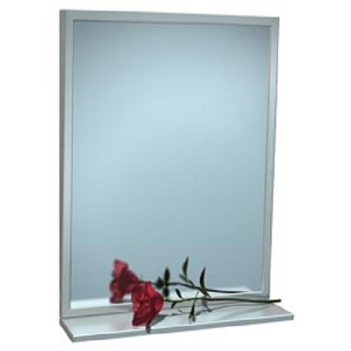 "American Specialties 0535-1836 18"" x 36"" Fixed Tilt Mirror With Shelf"