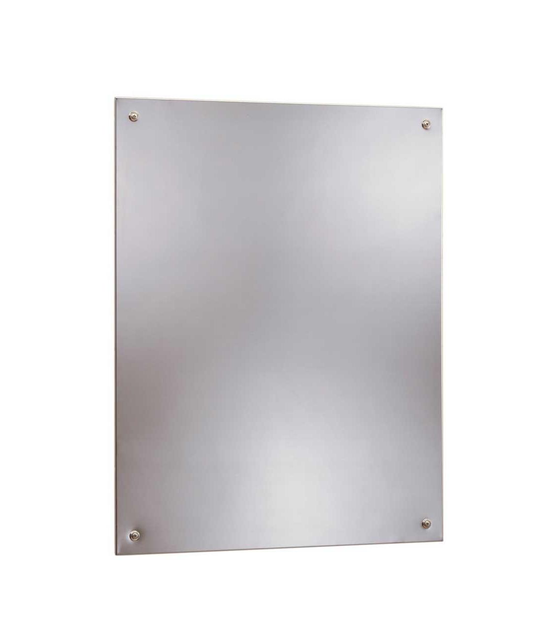 Bobrick B-1556 2436 Frameless Stainless Steel Mirror