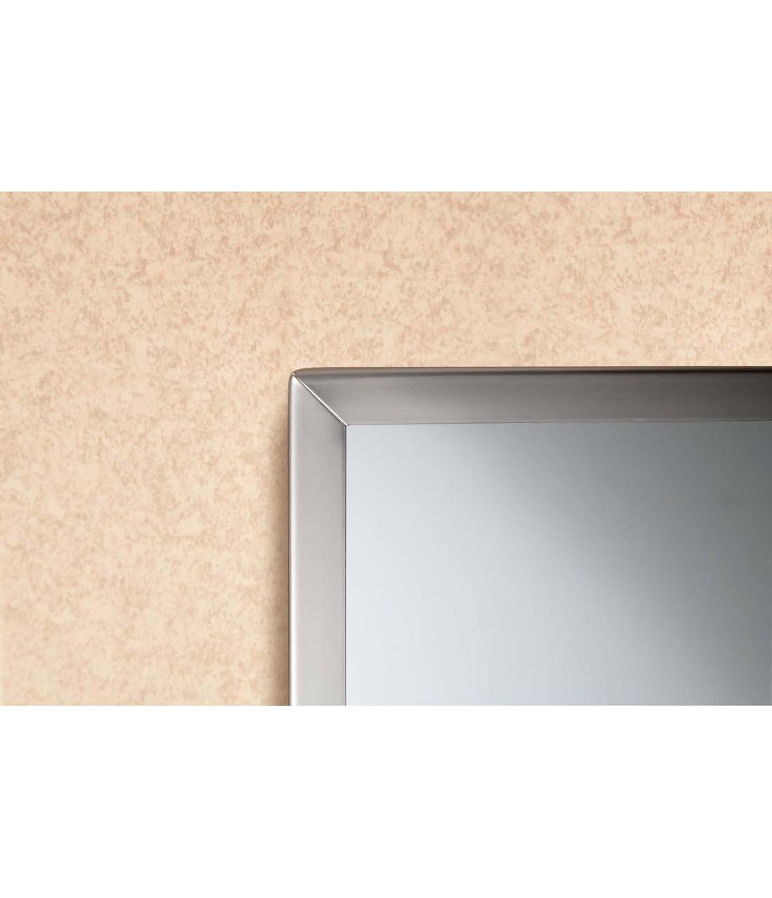 "Bobrick B-1658 2436 24"" x 36"" Tempered Glass Channel Frame Mirror"