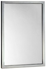 "Bobrick B-2908 1830 Welded Frame Mirror 18"" x 30"""
