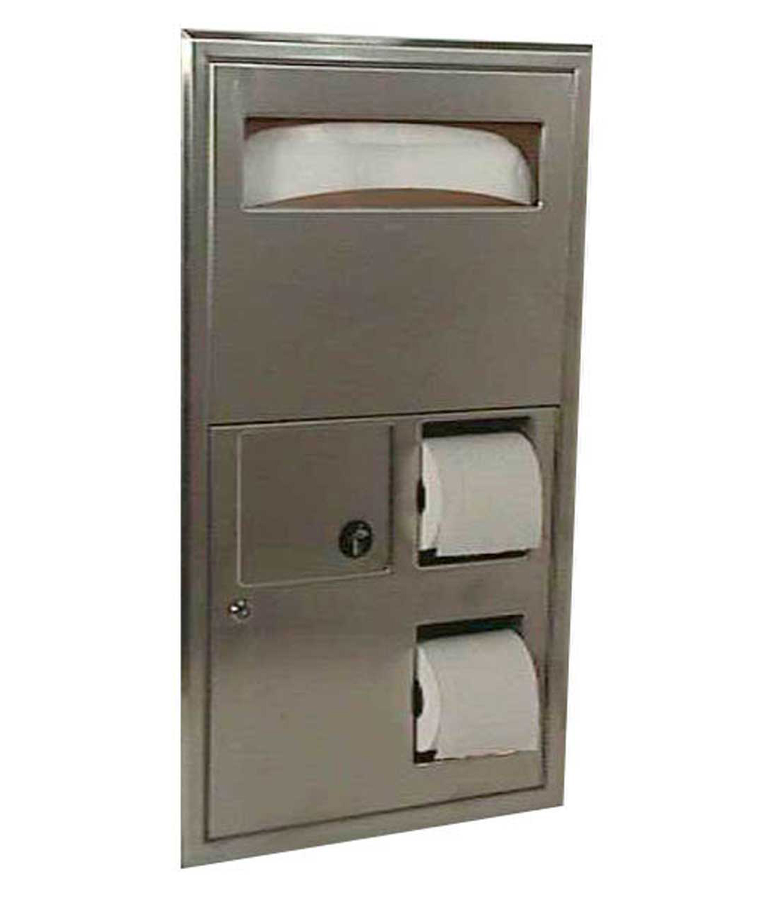 Outstanding Bobrick B 3574 Classicseries Recessed Sanitary Napkin Disposal Seat Cover And Toilet Tissue Dispenser Ncnpc Chair Design For Home Ncnpcorg