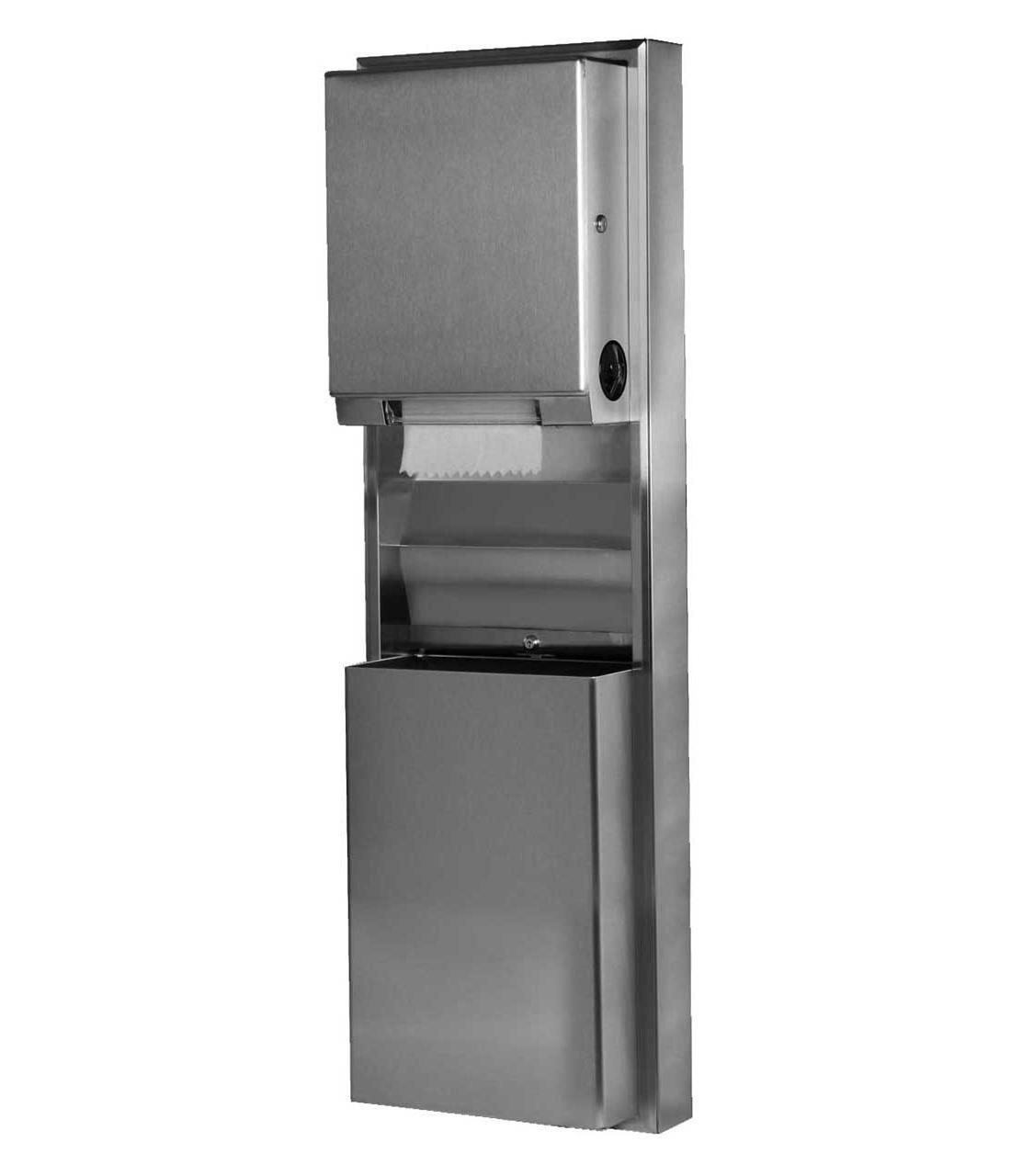 Bobrick-B-39619-Paper-Towel-Dispenser-&-Waste-Receptacle