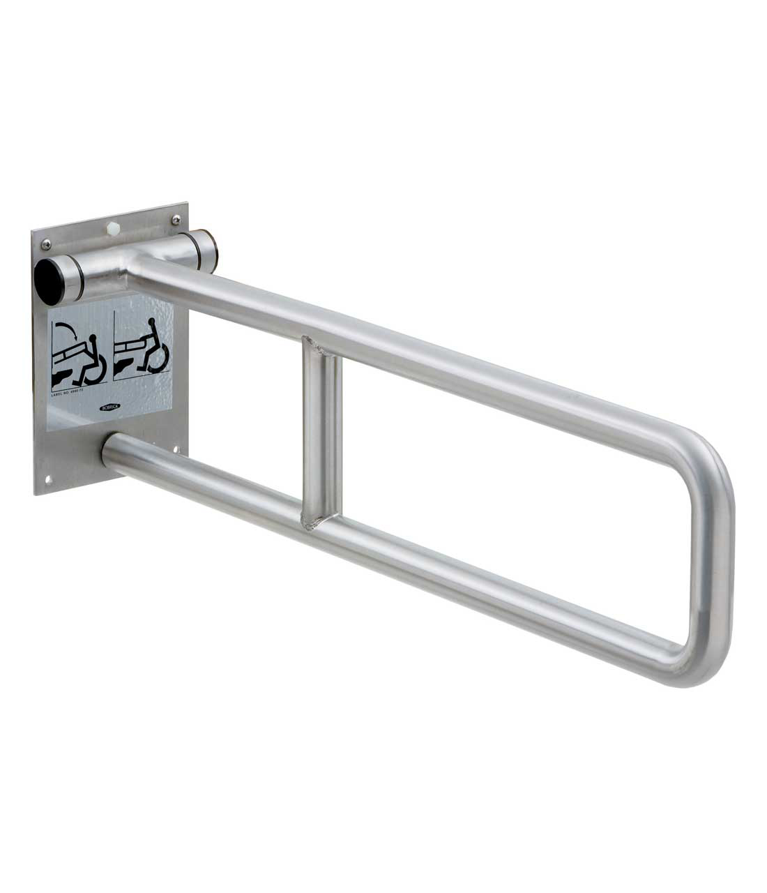 Bobrick B 4998 99 Swing Up Wall Mounted Grab Barbobrick B 4998 99 Grab Bar Swing Up