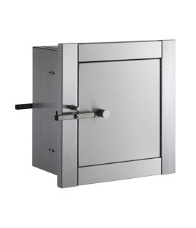 "Bobrick B-50516 Heavy-Duty Specimen Pass-Through Cabinet (3-6"" Wall Depths)"