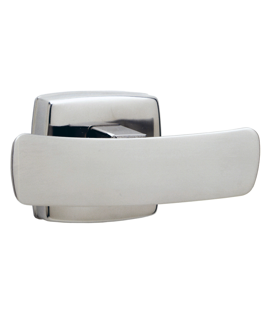 Gamco 7672 Surface-Mounted Double Robe Hook - Bright Finish