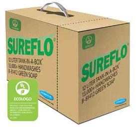 Bobrick 81412 SureFlo EcoLogo Green Soap Cartridge