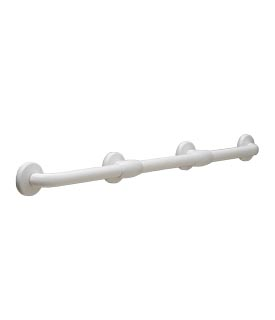 Bobrick B-980616x36 Vinyl-Coated Bariatric Grab Bar with Reinforced Flanges - 36""