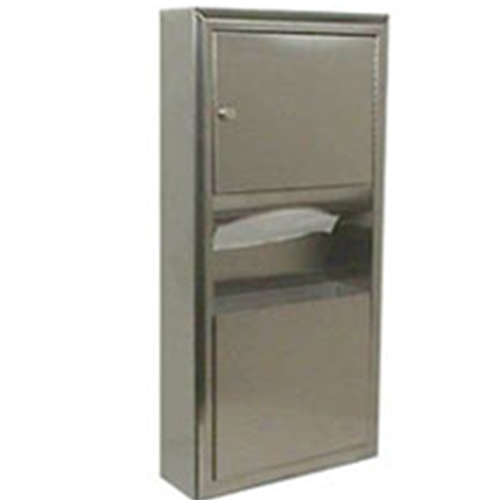 Bobrick B-3699 ClassicSeries® Surface-Mounted Paper Towel Dispenser/Waste Receptacle