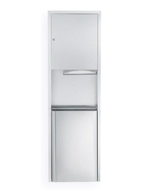 Bradley 234-11 Surface Mounted Towel Dispenser & Waste Receptacle