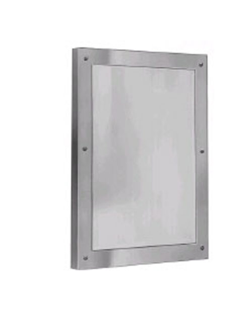 "Bradley SA03-2 12"" x 16"" Front Mounted Brite Annealed Stainless Steel Security Mirror"