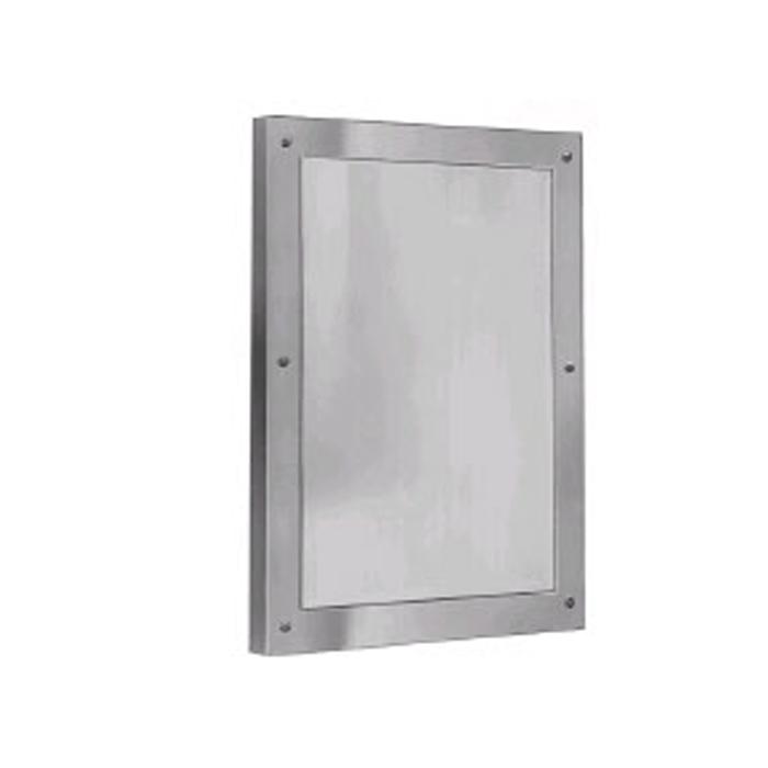 "Bradley SA03-5 12"" x 16"" Front Mounted Plexiglas® Security Mirror"