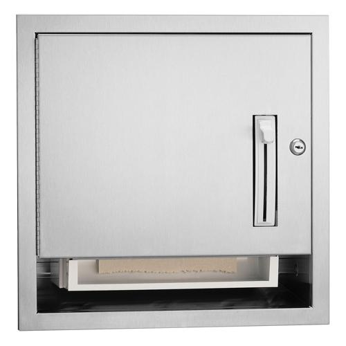 Bradley 2484-10 Semi-Recessed Lever Operated Roll Towel Dispenser