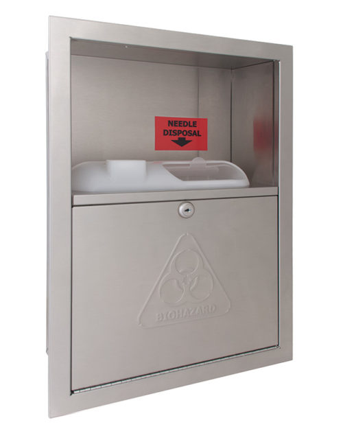 Bradley 989 Recessed Needle Disposal