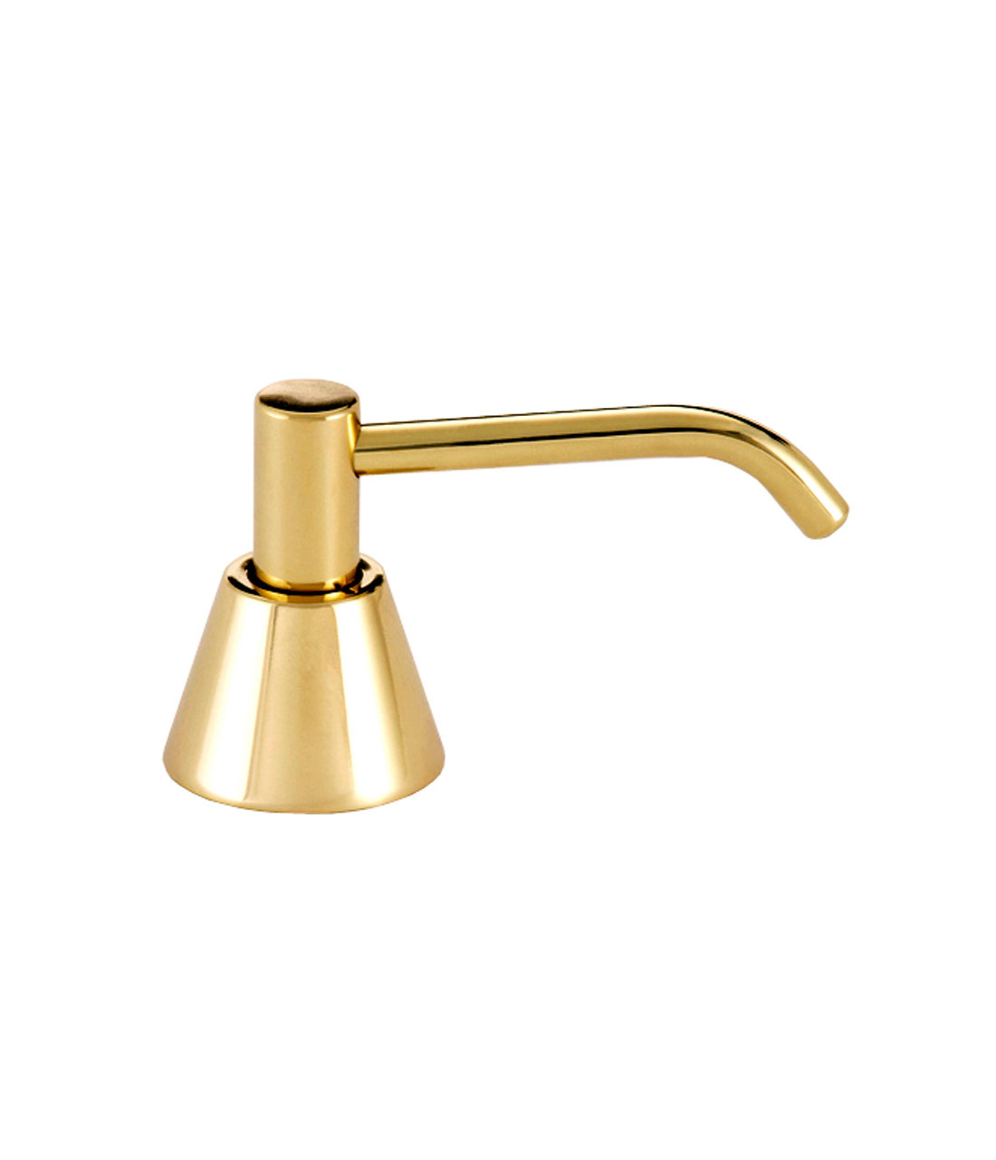"Gamco G-64LB-6-US-3 Counter Mounted Polished Brass Soap Dispenser - 6"" Spout"