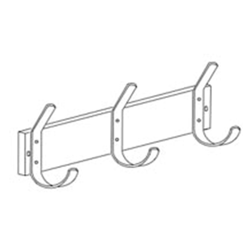 Gamco HCS-3 Hat & Coat Hook Strip