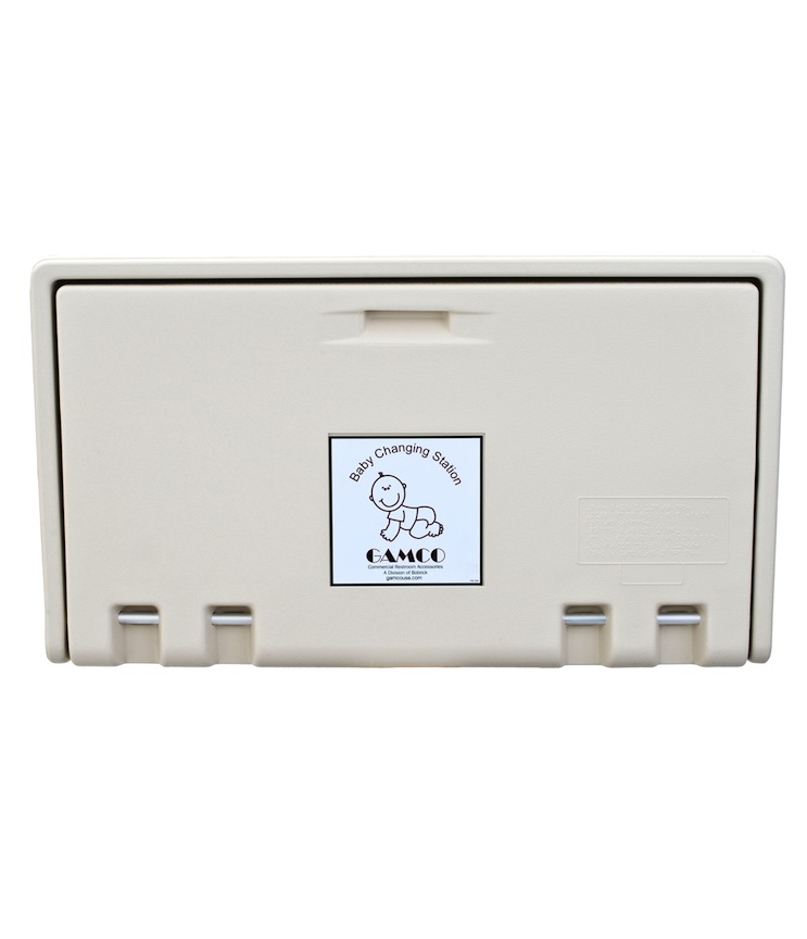 Gamco BCS-1 Horizontal Wall-Mounted Baby Changing Station - Cream