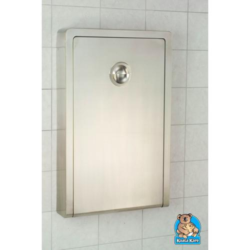 Koala Kare KB111-SSWM Vertical Surface Mounted Baby Changing Station - Stainless Steel