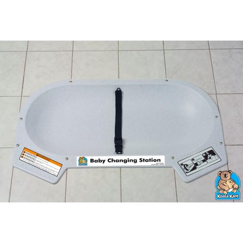 Koala Kare KB112-01RE Recessed Counter Mounted Baby Changing Station - Grey Granite