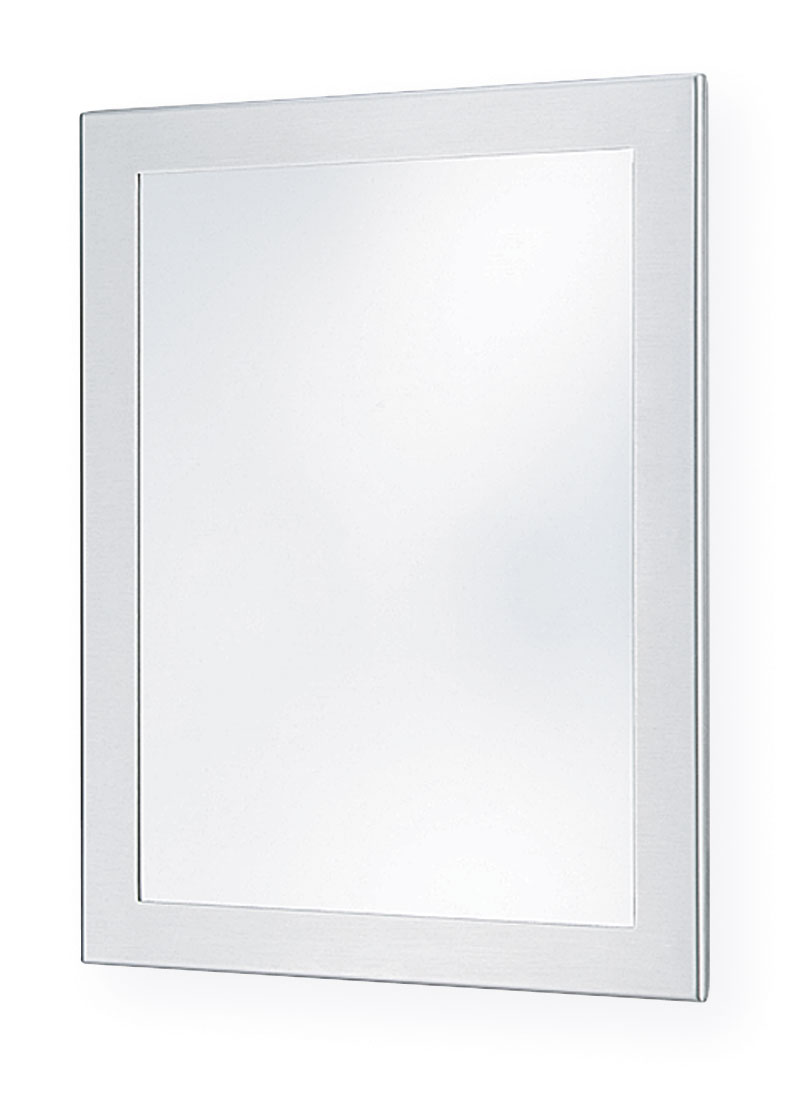 "Bradley SA01-1 12"" x 16"" Chase Mounted Stainless Steel Security Mirror"