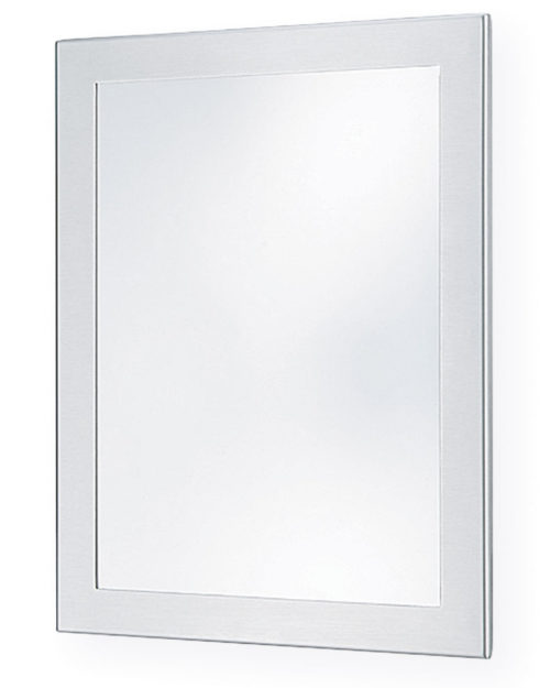 "Bradley SA01-2 12"" x 16"" Brite Annealed Stainless Steel Security Mirror"
