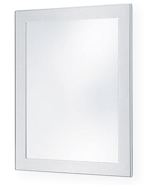 "Bradley SA01-2 12"" x 16"" Brite Annealed Stainless Steel Security Mirror"