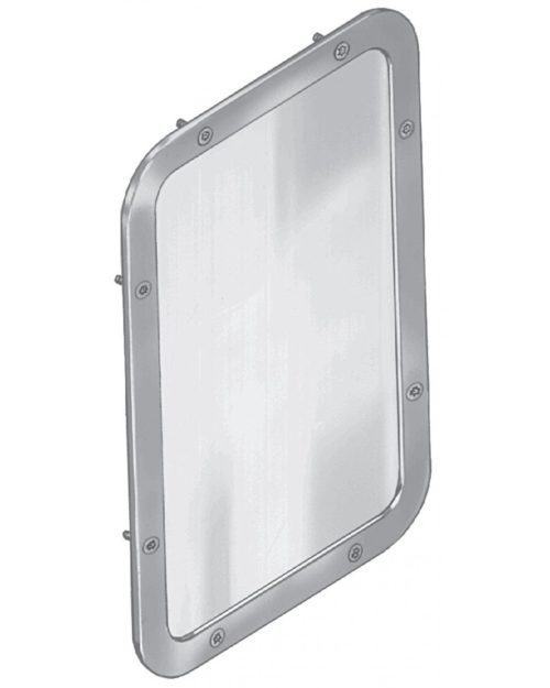 "Bradley SA06 Security Framed Wall Mirror 10-1/16"" x 11-9/16"""