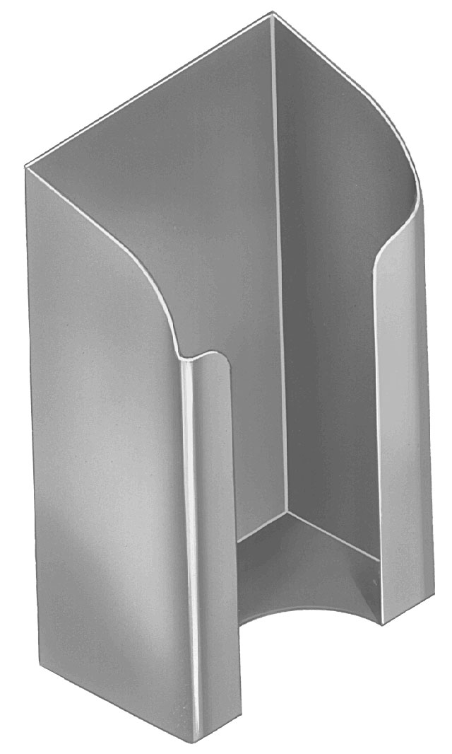 Bradley SA13-6 Security Folded Toilet Tissue Holder - Chase Mounted